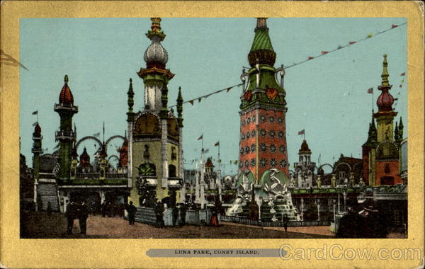 Luna Park Old Postcard