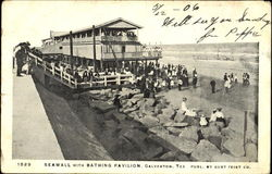 Seawall With Bathing Pavilion