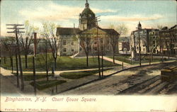 Court House Square Postcard