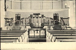 Interior Of First Congregational Church