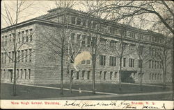 New High School Building Postcard