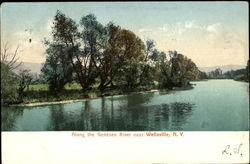 Along The Genesee River Postcard