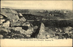 View From Little Round Top To Wheatfield