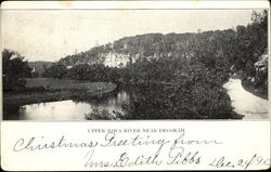 Upper Iowa River Near Decorah Postcard