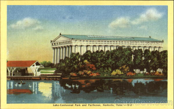 Lake-Centennial Park And Parthenon Nashville Tennessee