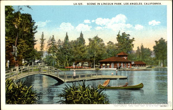 Scene In Lincoln Park Los Angeles California