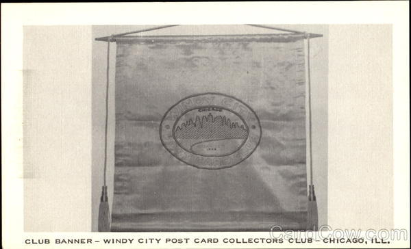 Club Banner Chicago Illinois Post Card Clubs