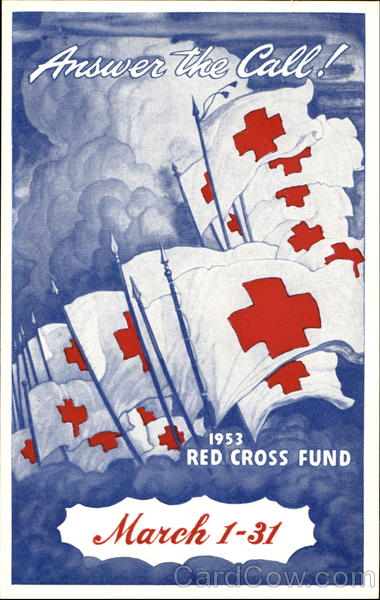 Answer The Call! Red Cross 1953 Advertising