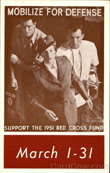 Mobilize For Defense 1951 Red Cross Advertising