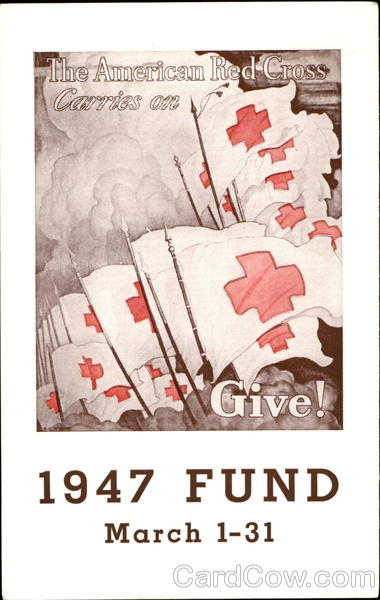 1947 The American Red Cross Carries On Advertising