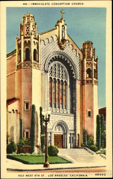 Immaculate Conception Church, 1433 West 9th St Los Angeles California