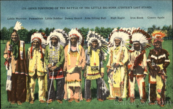 Sioux Survivors Of The Battle Of The Little Big Horn