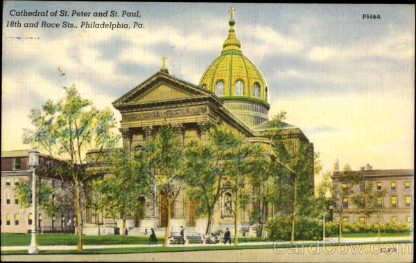 Cathedral Of St. Peter And St. Paul, 18th and Race Sts. Philadelphia Pennsylvania