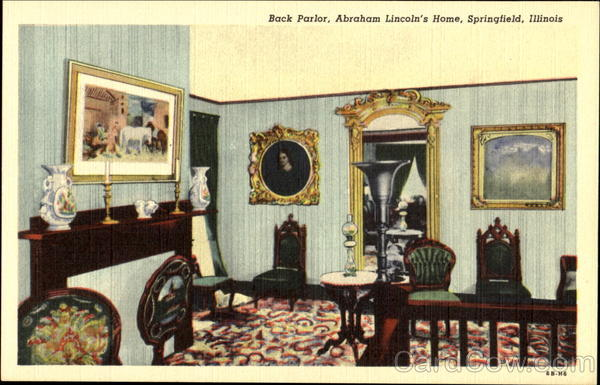 Back Parlor Abaham Lincoln's Home Springfield Illinois