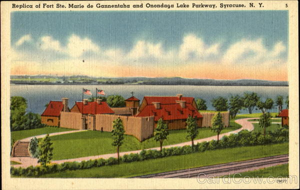 Replica Of Fort Ste. Marie De Gannentaha And Onondaga Lake Parkway Syracuse New York