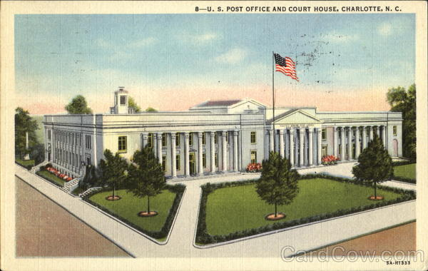 U. S. Post Office And Court House Charlotte North Carolina