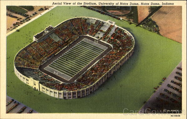 Aerial View Of The Stadium, University Of Notre Dame Indiana