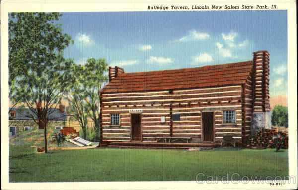 Rutledge Tavern, New Salem State park Illinois