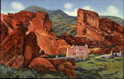 Scene In The Park Of The Red Rocks
