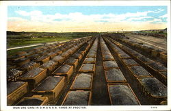 Iron Ore Cars In D. M. & N. R. R. Yards