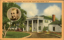 Home Of Bing Crosby, Toluca Lake Postcard