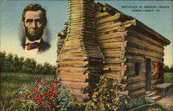Birthplace Of Abraham Lincoln Postcard