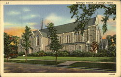 Episcopal Church And Main Street Postcard