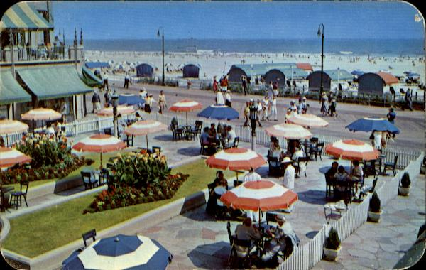 Colorful Flowers Umbrellas And Cabanas Atlantic City New Jersey