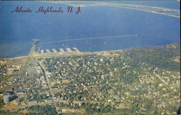 Aerial View Of Atlantic Highlands New Jersey