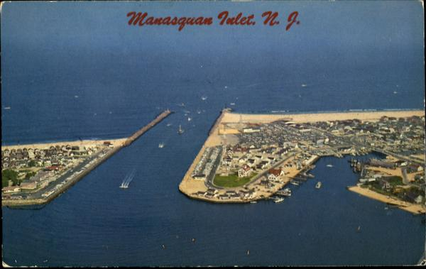 Aerial View Of Manasquan Inlet New Jersey