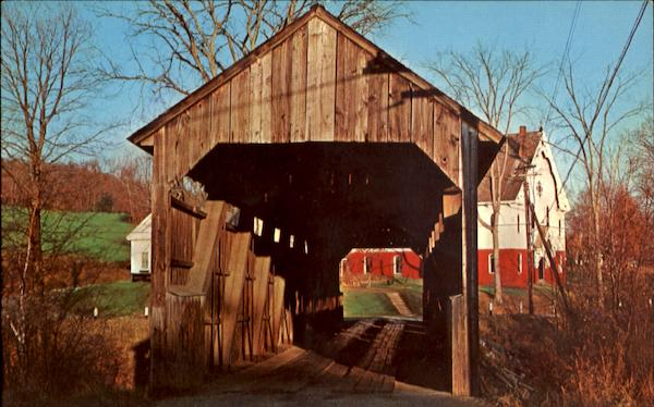 Conway Covered Bridge Massachusetts