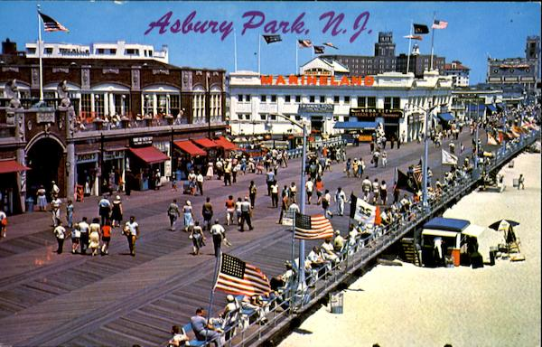A Gay Array Of Flags Stands Out In The Cool Breeze Asbury Park New Jersey