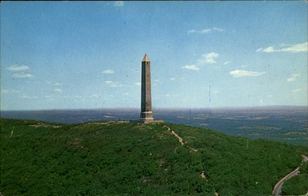 Aerial View Of High Point Monument, Sussex County New Jersey