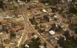 Aerial View Of The Town Of Stoughton