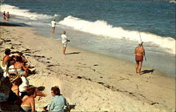 A Section Of The Beach Is Reserved For Surf Fishing