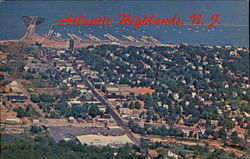 Aerial View Of The Business Section And Harbor Postcard