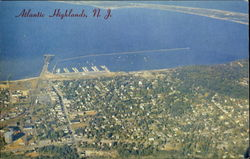 Aerial View Of Atlantic Highlands Postcard