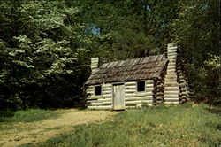 Reconstructed Continental Army Officers' Hut