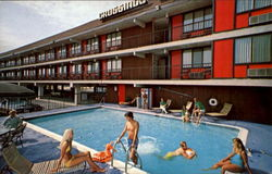 Crossings Motor Inn, 34th & Haven Ave. Postcard