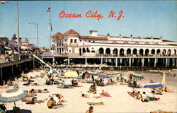 Boardwalk Beach And Music Pier Postcard
