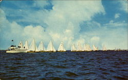 Yacht Club Races On Barnegat Bay