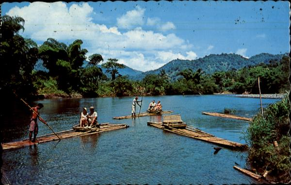 Rafting Party On The Rio Grande River Jamaica