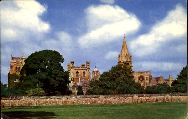 Christchurch College As Seen From The Meadow Oxford Oxfordshire England