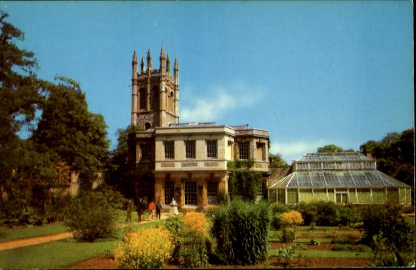 Botanic Gardens And Magdalen Tower Oxford England