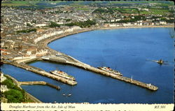 Douglas Harbour From The Air Postcard