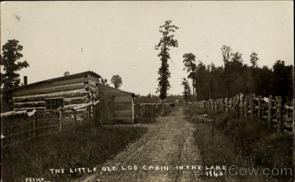 The Little Old Log Cabin In The Lane Pesha Cowboy Western