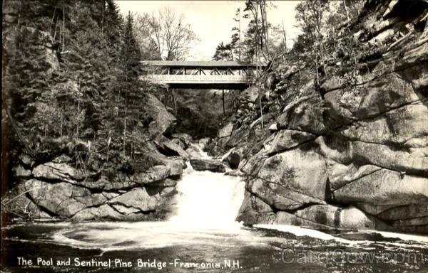 Pool And Sentinel Pine Bridge Franconia New Hampshire