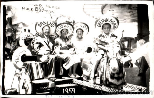 1959 Mexican Tourists Family Portaits