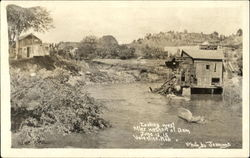 Looking West After Washout Of Dam Postcard