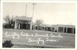 Langtry Cafe & Tourist Courts Cabins Postcard